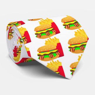 Hamburger et fritures cravate