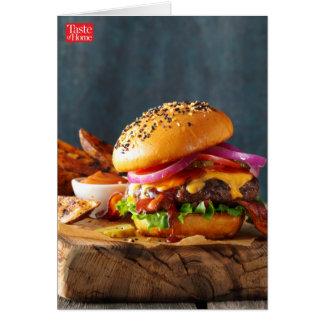 Hamburgers de barbecue cartes de vœux