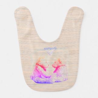 HAMbWG - bavoir de bébé - amour d'ours de nounours