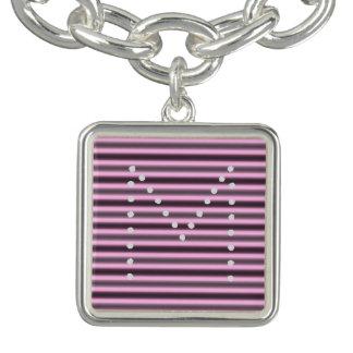 HAMbWG - bracelet de charme - néon rose