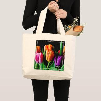 HAMbWG - sac fourre-tout - tulipes colorées
