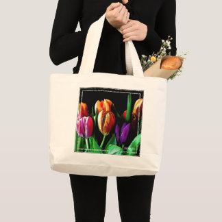 HAMbWG - sac fourre-tout - tulipes oranges et