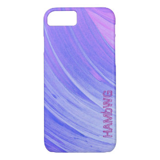 HAMbyWG - coque iphone d'Apple - remous violet Coque iPhone 7