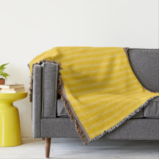 HAMbyWhiteGlove - couverture de jet - jaune/jaune