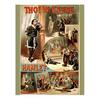Hamlet vintage de Shakespeare, 1884, Carte Postale