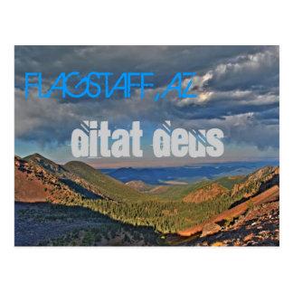 Hampe de drapeaux, carte postale d'AZ