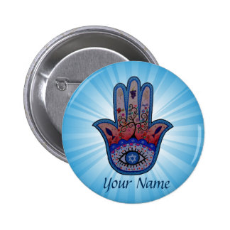 Hamsa Judaica Badge Rond 5 Cm
