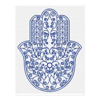 hamsa*tunis*morocco*henna*blue carte postale