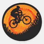 Hanches de multiple de vélo sticker rond