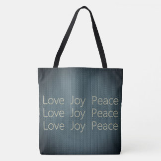 Hand-Stitching*-LOVE-JOY-PEACE-Everyday-TOTES Sac