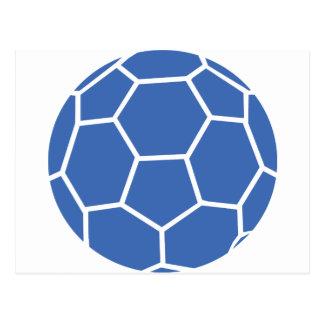 handball bleu de boule carte postale