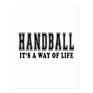 Handball c'est mode de vie carte postale