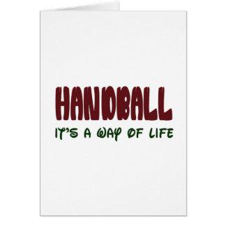 Handball c'est un mode de vie carte de vœux