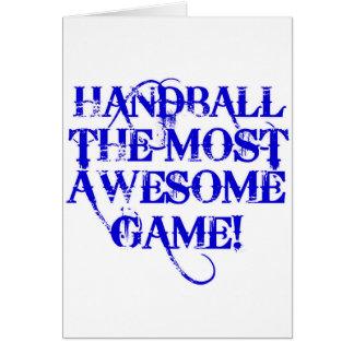handball la plupart de jeu impressionnant ! carte de vœux