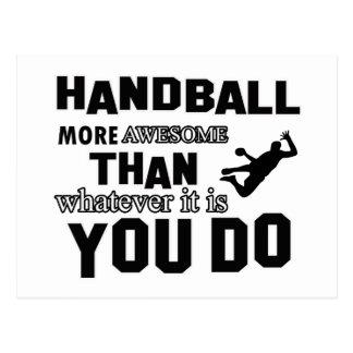 handball plus impressionnant que ce que vous carte postale