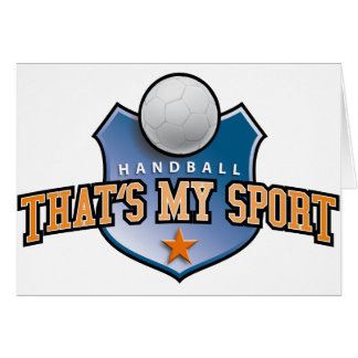 Handball - that's my sport cartes de vœux