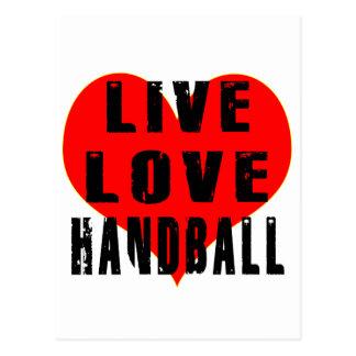 Handball vivant d'amour cartes postales