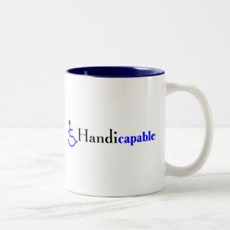 Handicapable (fauteuil roulant) mug bicolore