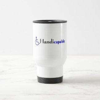 Handicapable (fauteuil roulant) mug de voyage en acier inoxydable