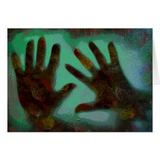 Handprints Carte De Vœux