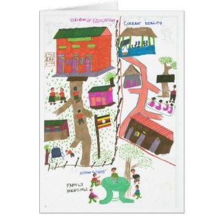 Hannah mène sa famille en créant une vision carte de vœux