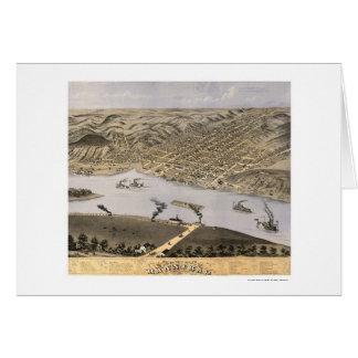 Hannibal, carte panoramique de MOIS - 1869