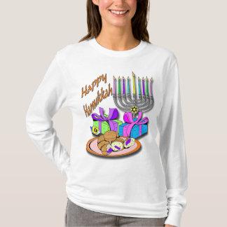 Hanoukka - butées toriques, Menorah, chemise de T-shirt