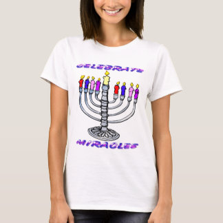 Hanoukka - célébrez les miracles, Menorah T-shirt