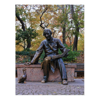 Hans Christian Andersen, Central Park, NYC Carte Postale
