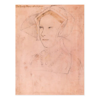 Hans Holbein Queen Mary plus jeune I Tudor Carte Postale