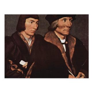 Hans Holbein - Thomas Godsalve de Norwich et fils Carte Postale