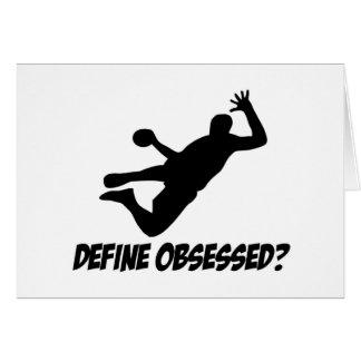 Hanté avec le handball cartes de vœux