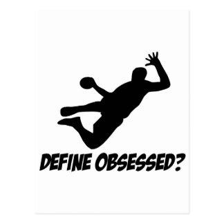Hanté avec le handball cartes postales
