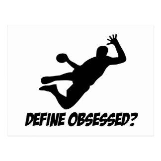 Hanté avec le handball carte postale