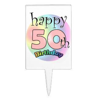 Happy 50th Birthday (rose) Pique À Gâteau