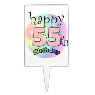 Happy 55th Birthday (rose) Piques À Gâteau