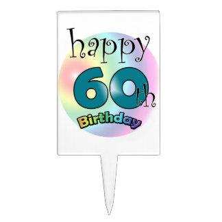 Happy 60th Birthday Étiquettes À Gâteau