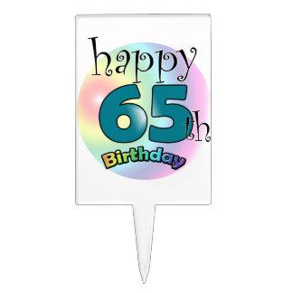 Happy 65th Birthday (bleu) Pique À Gâteau