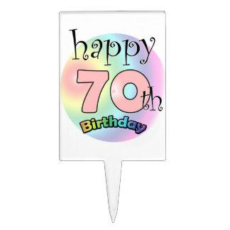 Happy 70th Birthday (rose) Piques À Gâteaux