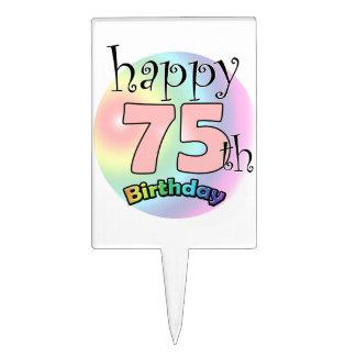 Happy 75th Birthday (rose) Pique À Gâteau