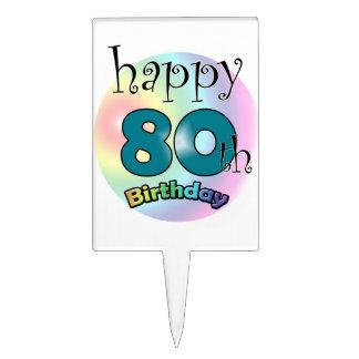 Happy 80th Birthday Piques À Gâteaux