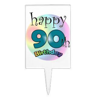 Happy 90th Birthday Étiquette À Gâteau