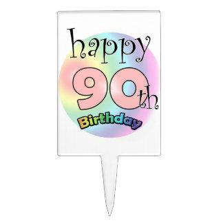 Happy 90th Birthday (rose) Pique À Gâteau