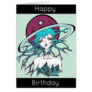 Happy Birthday manga space original Carte De Vœux