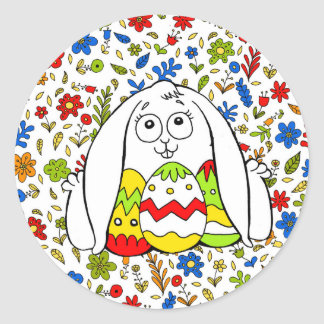 Happy Easter Sticker Rond