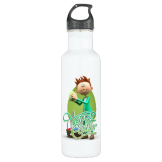 Happy Easter Toon 24oz Water Bottle
