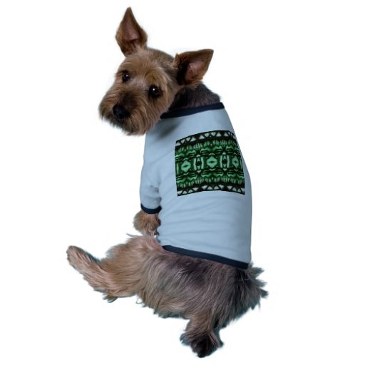 Happy le Green Pattern Tee-shirt Pour Animal Domestique