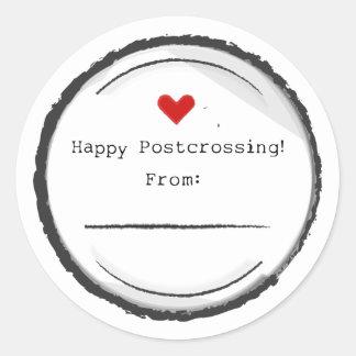 Happy Postcrossing postcard stickers