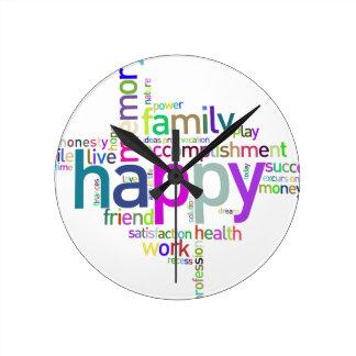 HappyFamily Horloge Ronde