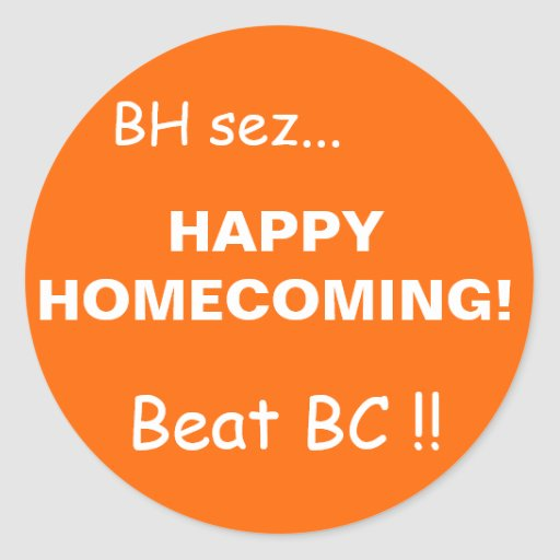 HAPPYHOMECOMING ! , Battement DOOK ! , le BH s… - Adhésif Rond